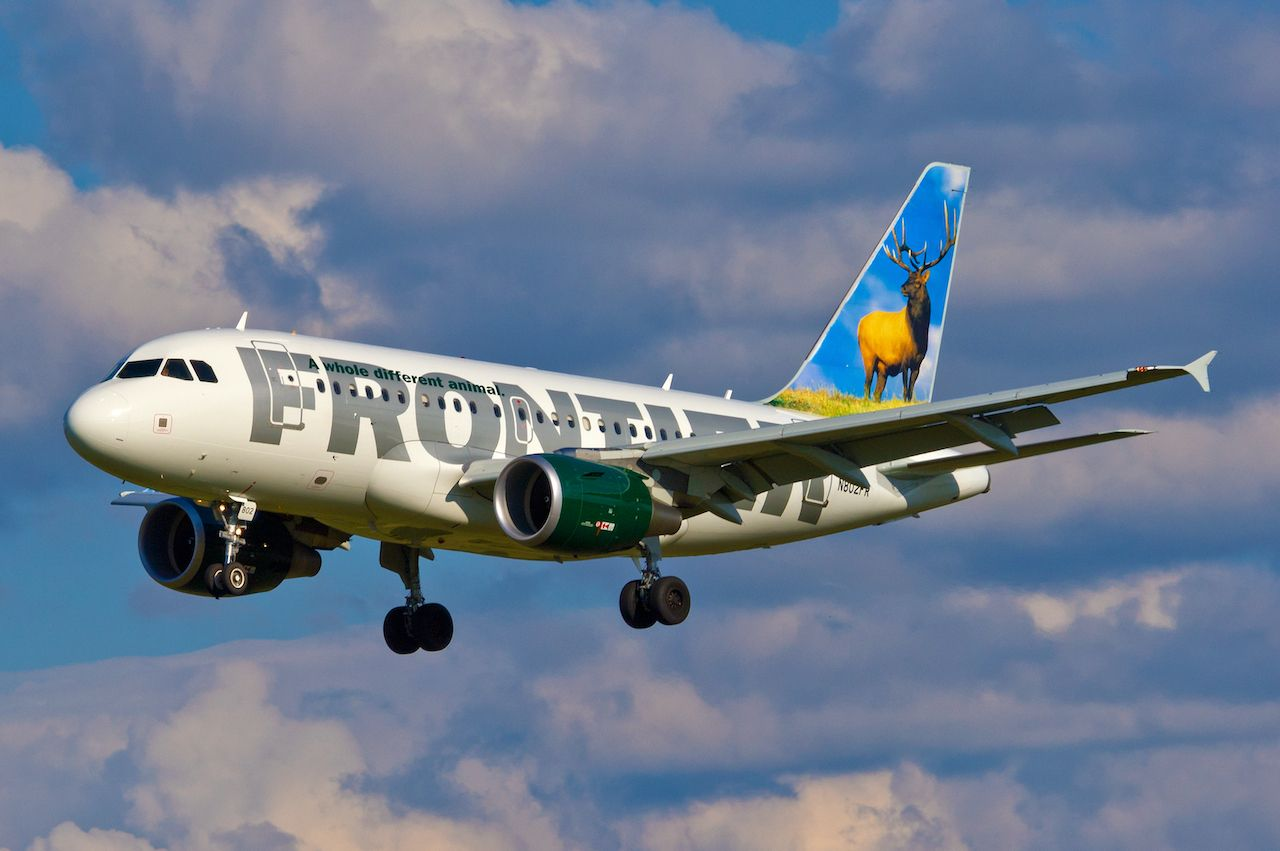 Frontier Airlines middle seat fee