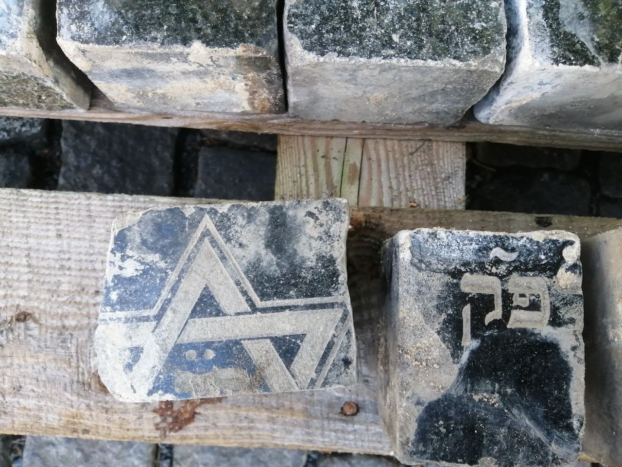 Jewish gravestones unearthed during construction in Prague