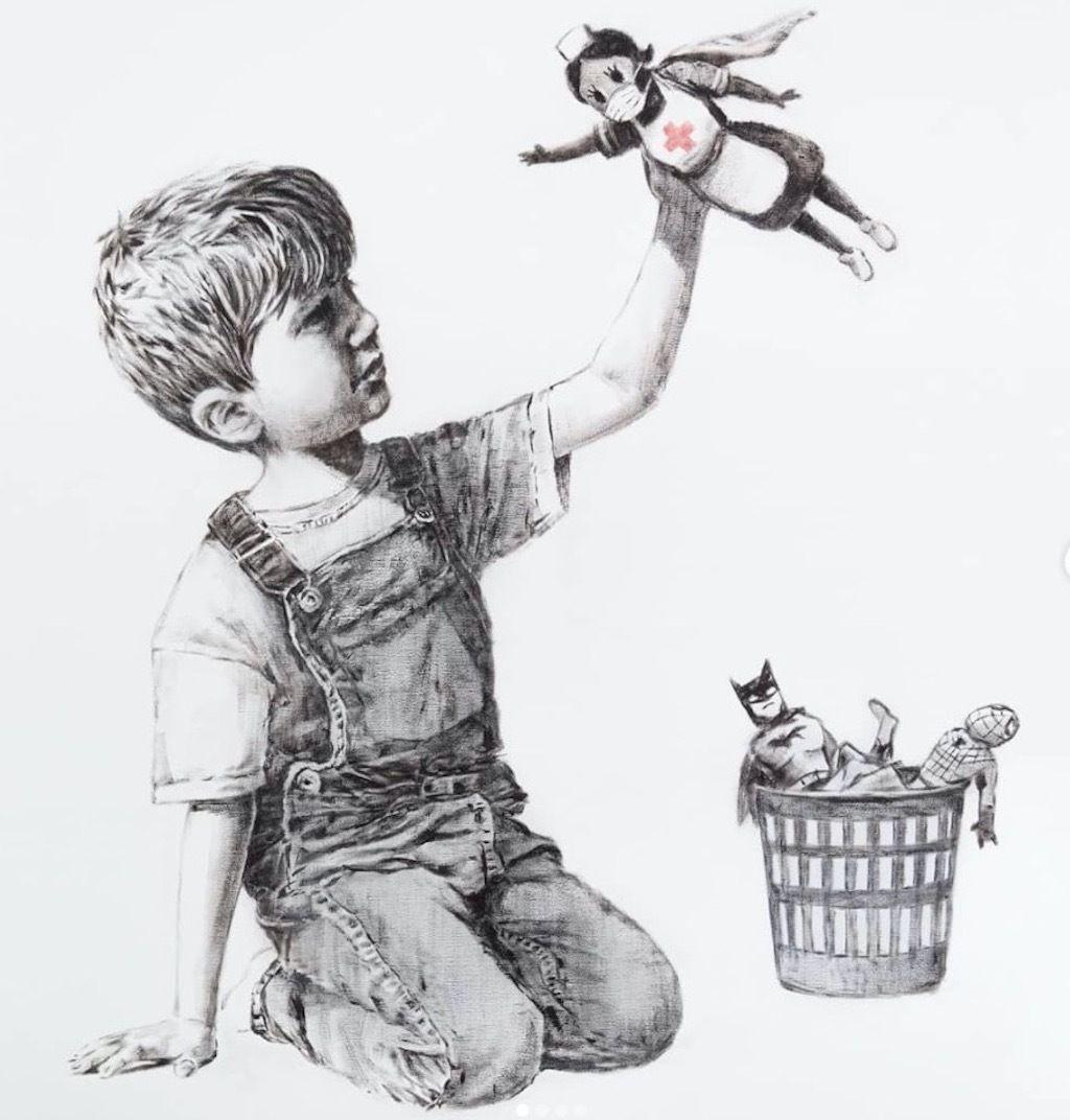 Banksy piece at Southampton hospital