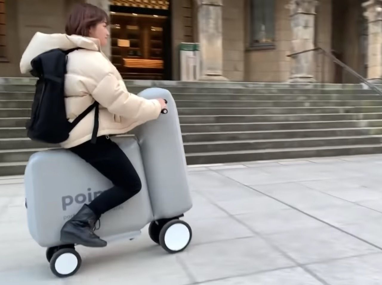 Inflatable, portable Poimo e-bike
