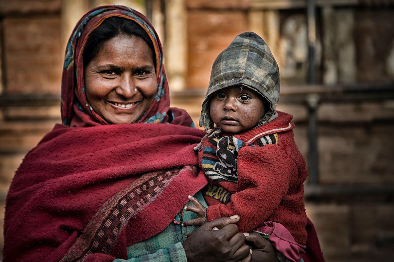 Portrait old women in traditional dress