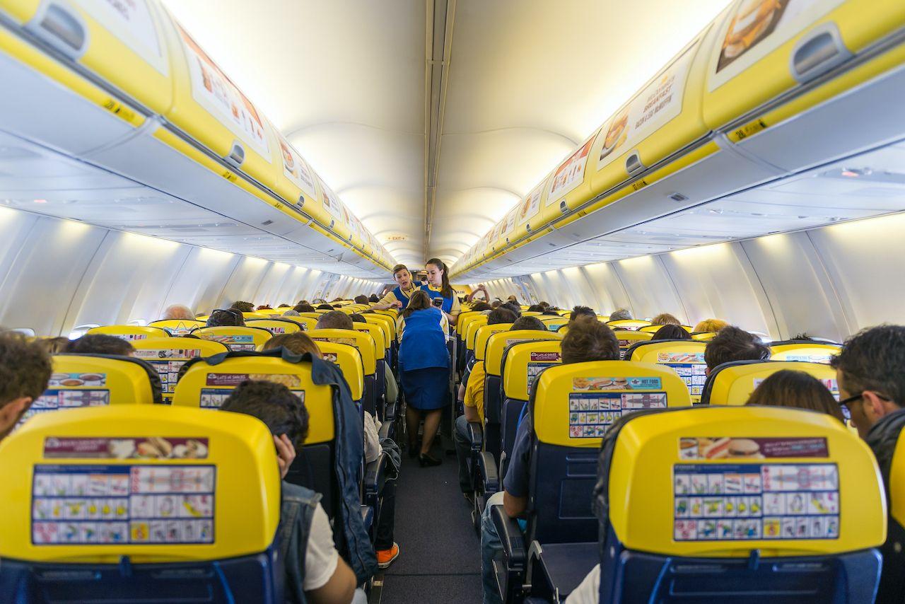 Ryanair passengers ask to use toilet