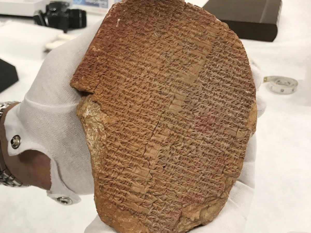 Pillaged 3,600-year-old Iraqi tablet seized from museum in Washington, DC