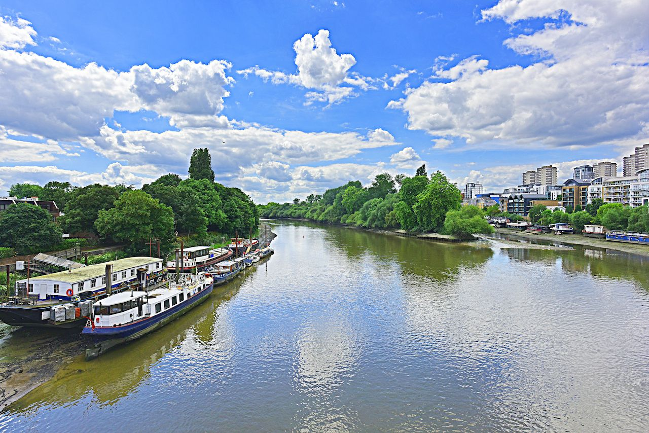 Thames River, Kew Gardens and Brentford Ait