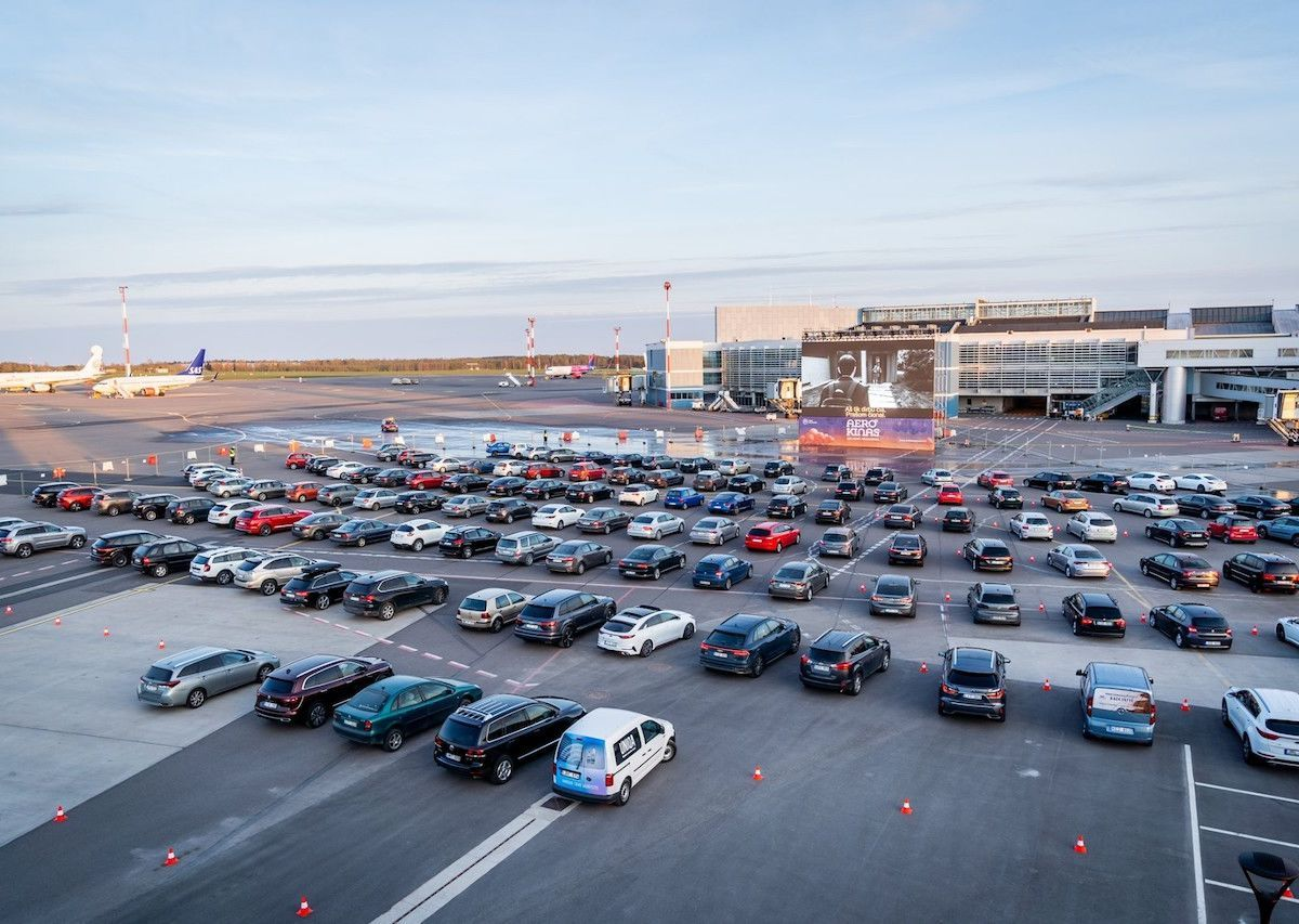 Flipboard Vilnius Airport Sets Up A Drive In Movie Theater On Empty Tarmac