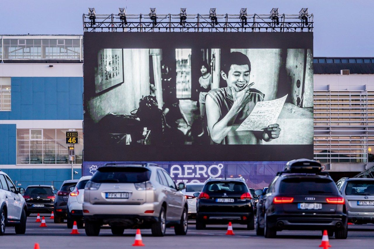 Vilnius Airport drive in theater