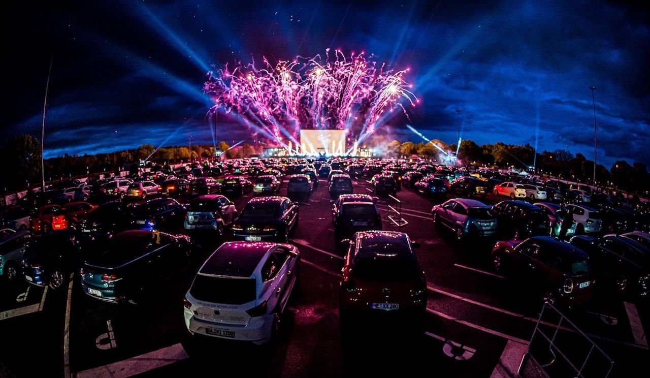 Germany hosts drive-in rave
