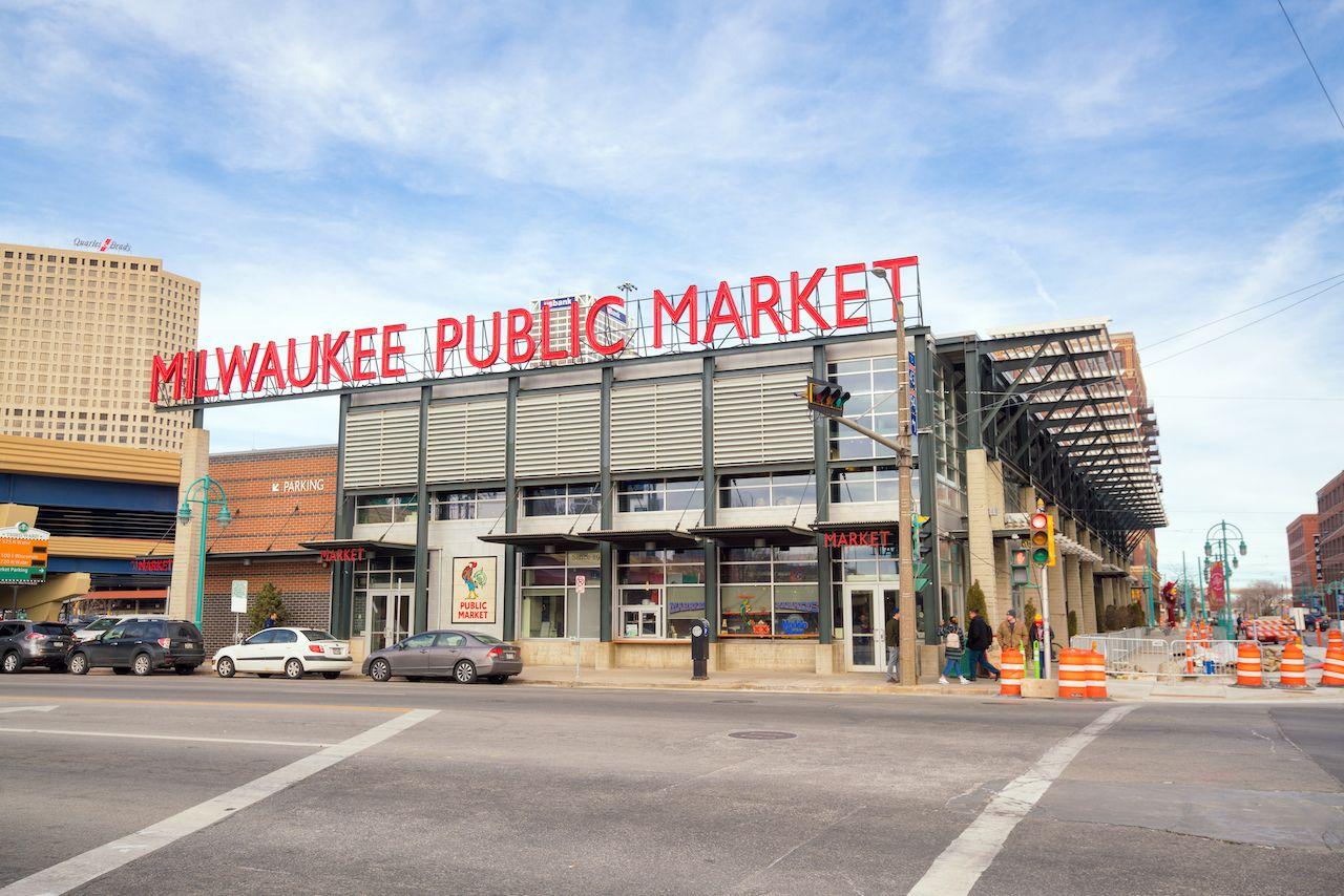 Milwaukee's popular Public Market on a sunny day