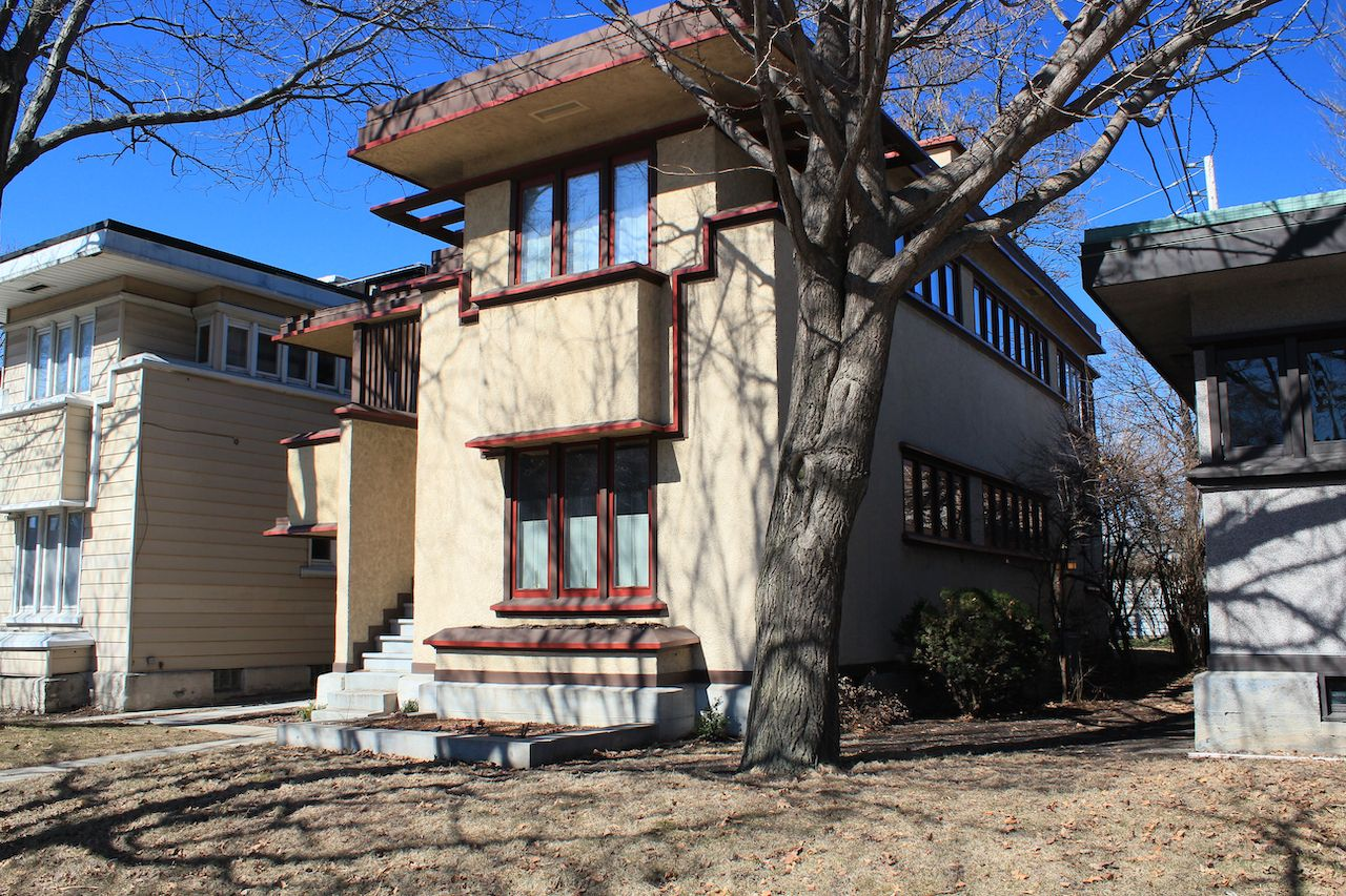Richards Duplex Apartments. Built 1916. Architect Frank Lloyd Wright