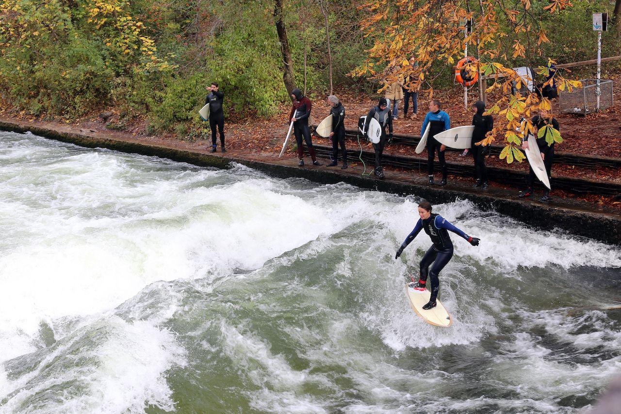 Eisbach river