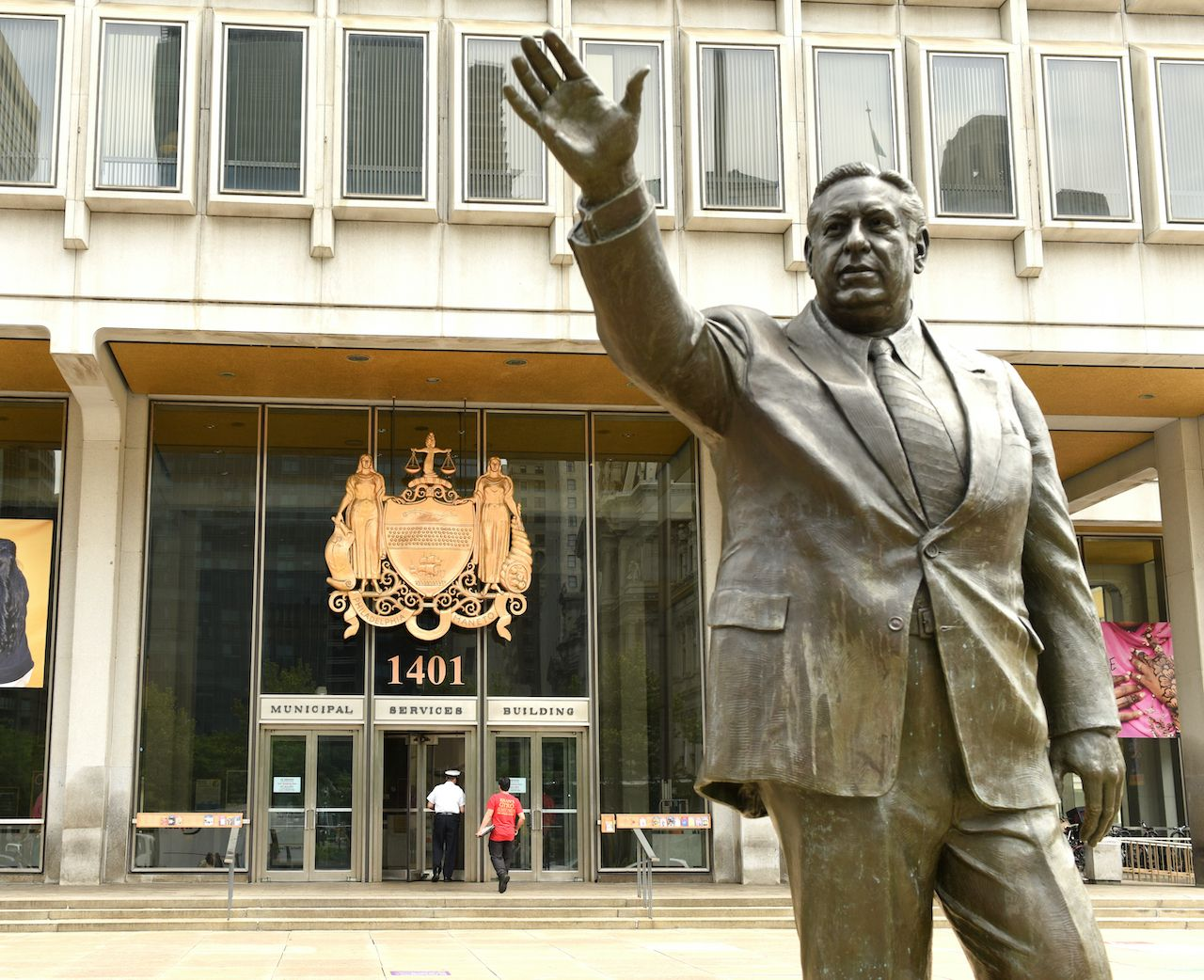 Frank L. Rizzo Monument near the Philadelphia Municipal Services Building