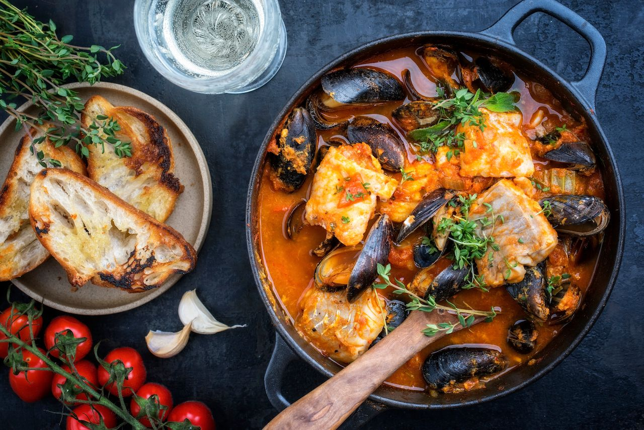 French Corsican fish stew