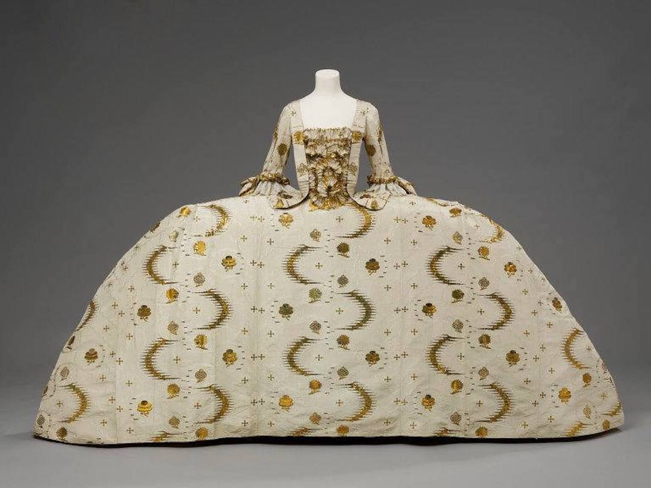 Mantua dress at the Victoria and Albert Museum London