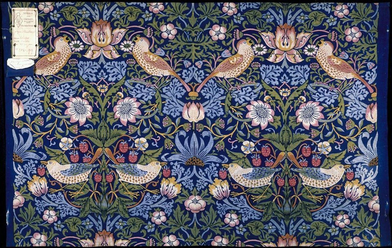 Strawberry Thief by William Morris at the Victoria and Albert Museum