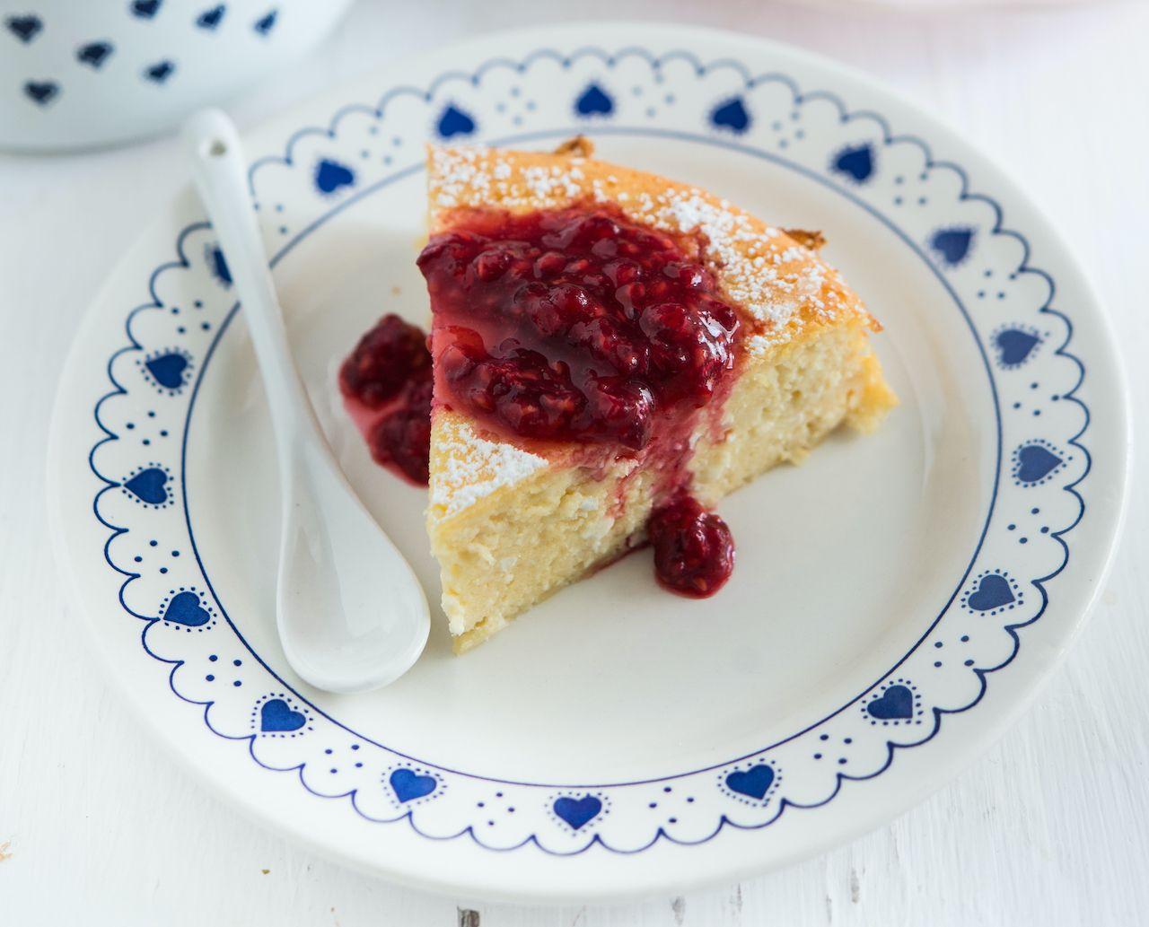 Swedish marzipan cheesecake