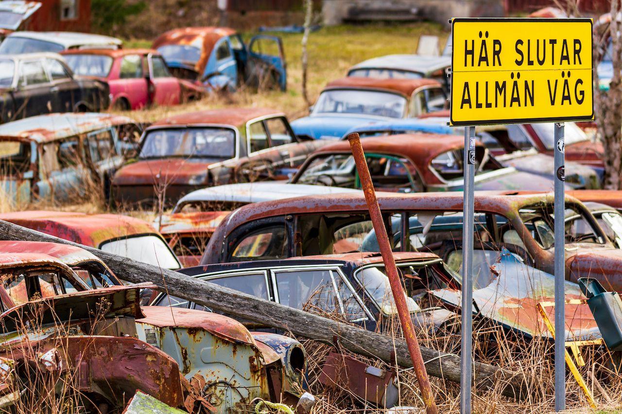 Sweden's Båstnäs Car Cemetery