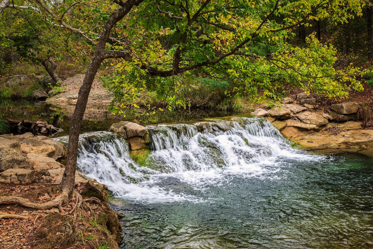 Small waterfall at the Chickasaw National Recreation Area