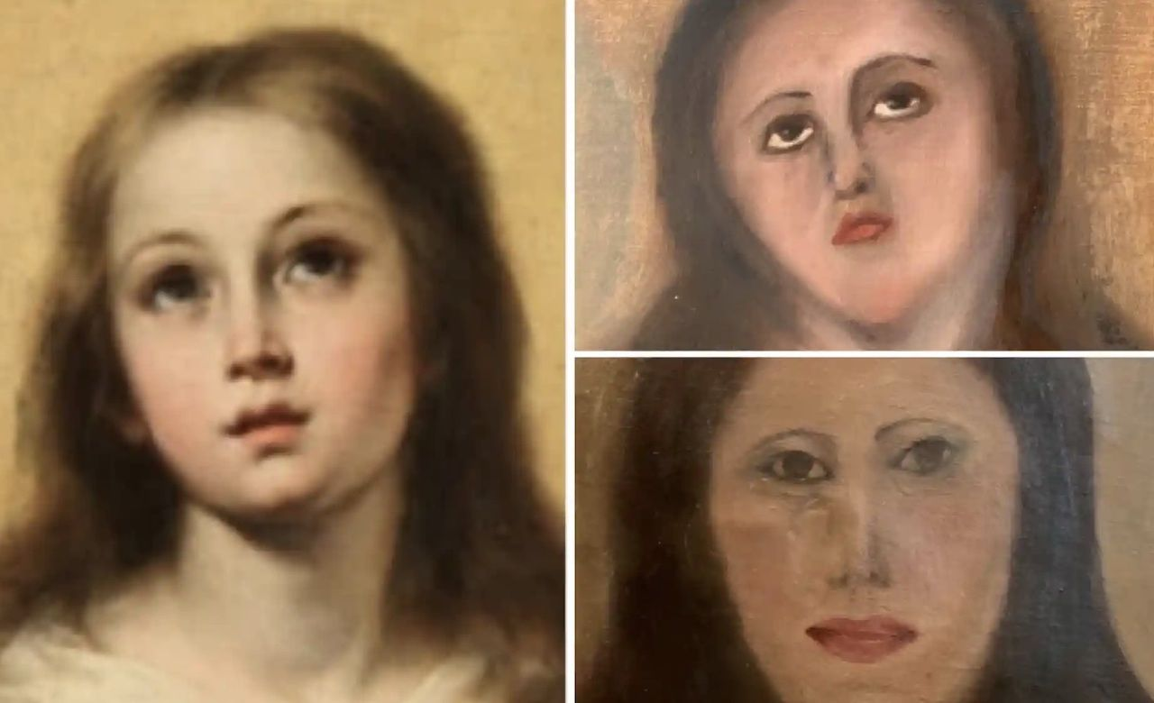 Botched Virgin Mary art restoration