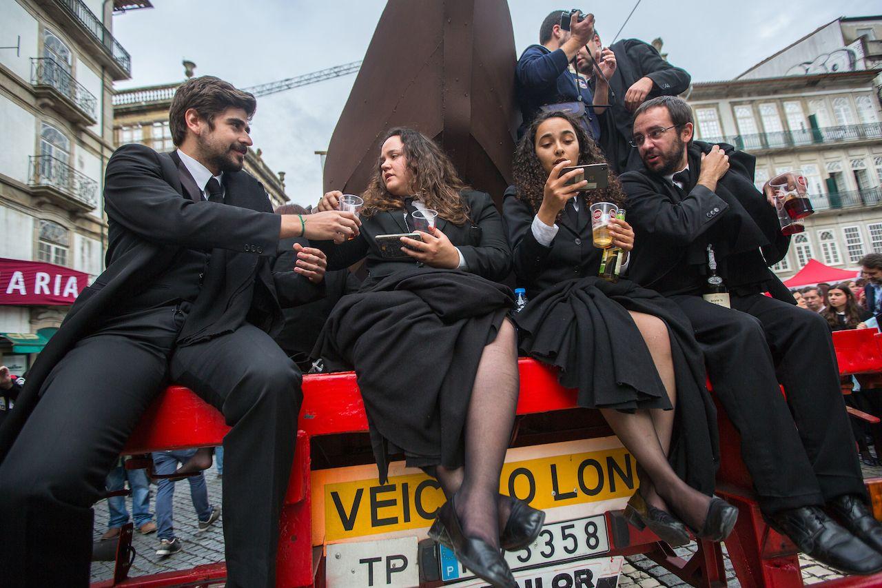Praxe freshman hazing in Portugal