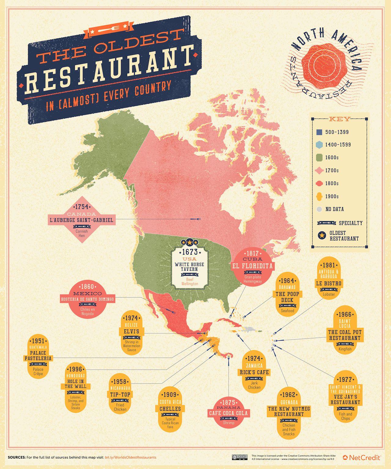 north-america-oldest-restaurant-map