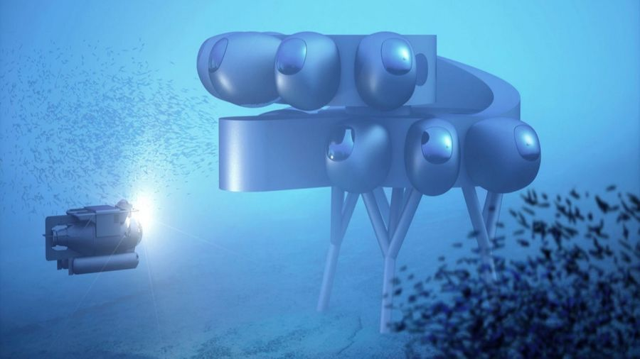Plans for futuristic underwater research station