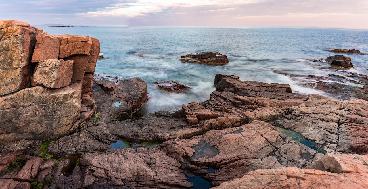 Thunder Hole in Acadia National Park Maine