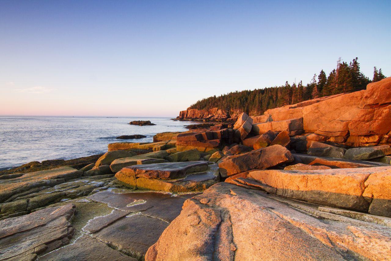 Marine landscape in Acadia, Park Loop Road