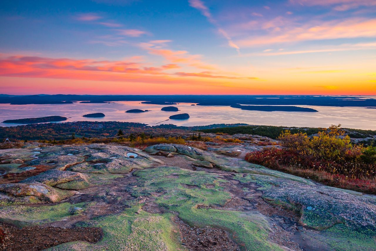 Sunrise from the Summit of Mount Cadillac in Fall