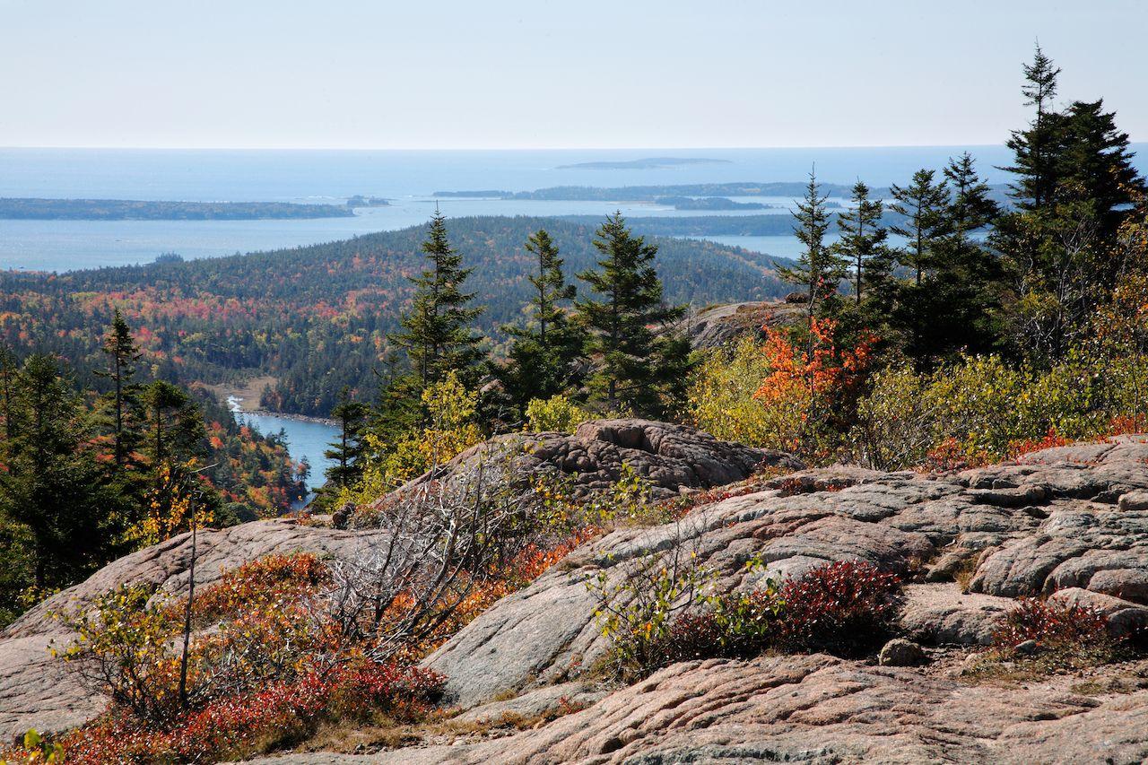 The Atlantic Ocean Seen From Cadillac Mountain, Acadia National Park