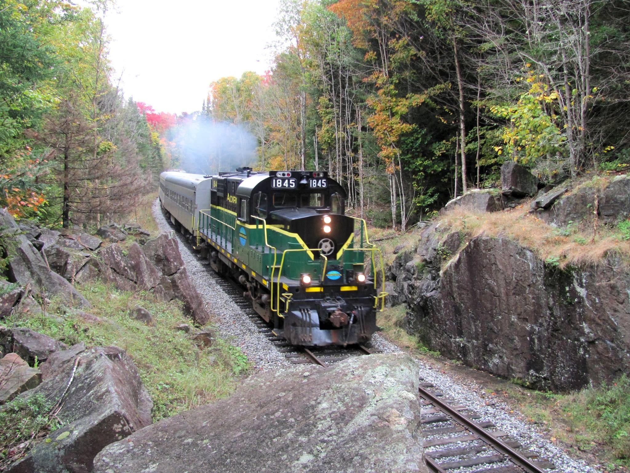 A fall train ride on the Adirondack Scenic Railroad