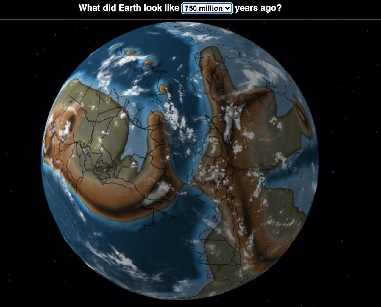 What did Earth look like 750 million years ago
