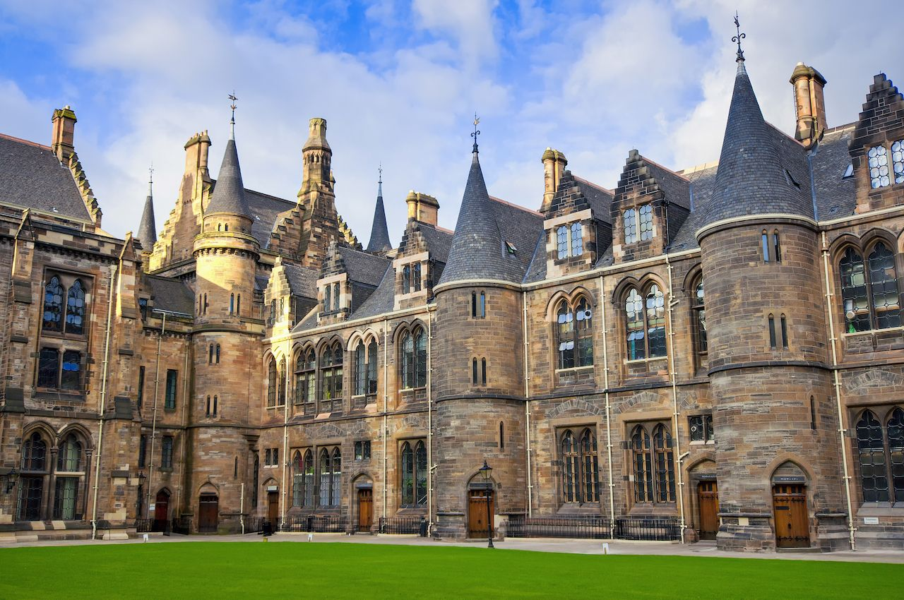 University of Glasgow, the East Quadrangle of the Main Building.