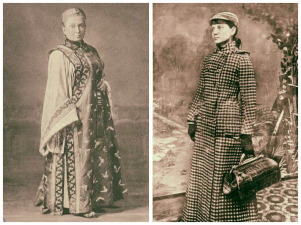 Izquierda: Isabella Bird. Inglesa. 1831-1904 Derecha: Nellie Bly. Estadounidense. 1864 - 1922