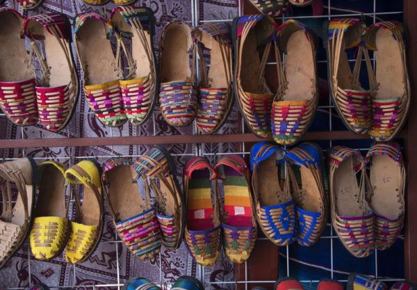 huaraches artesanías típicas de Oaxaca