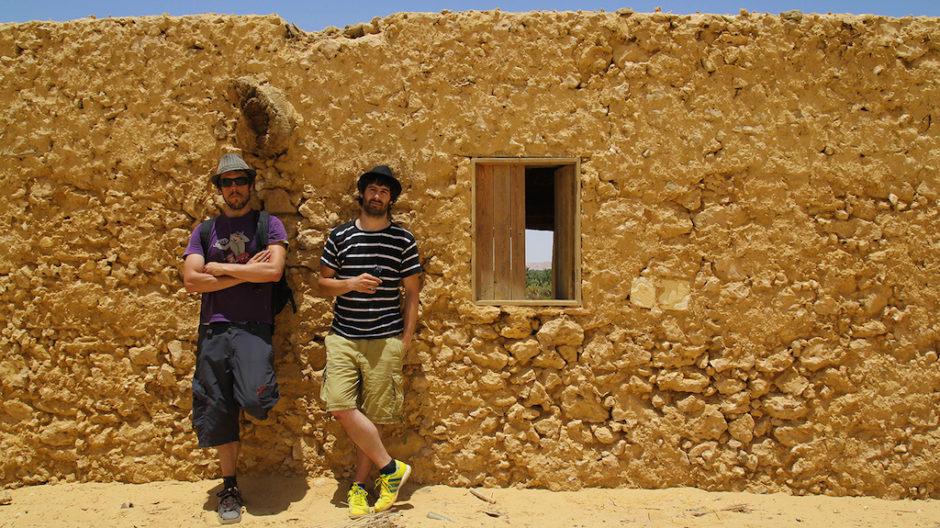 Iosu (izquierda) y Alberto (derecha) en Siwa, Egipto