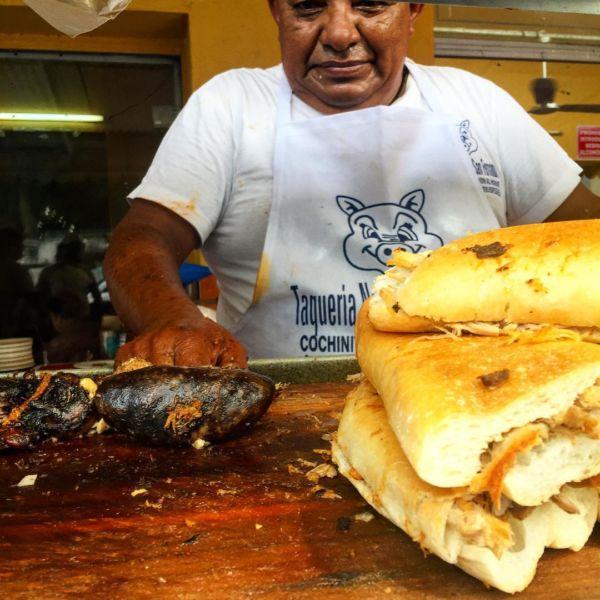puestitos callejeros de Mérida