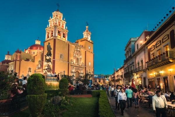 Guanajuato Mexico catedral noche
