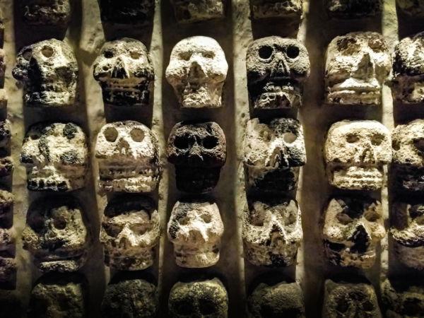 cráneos de los mexica difuntos mexica