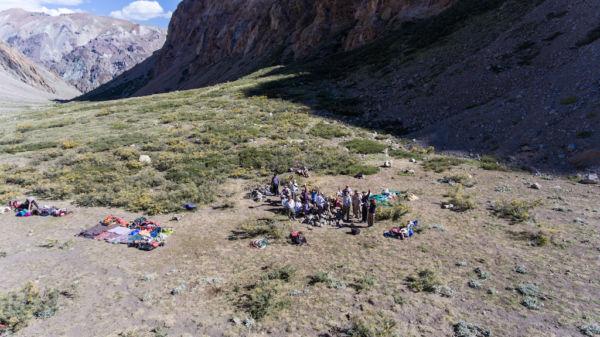 cruzar los Andes campamento