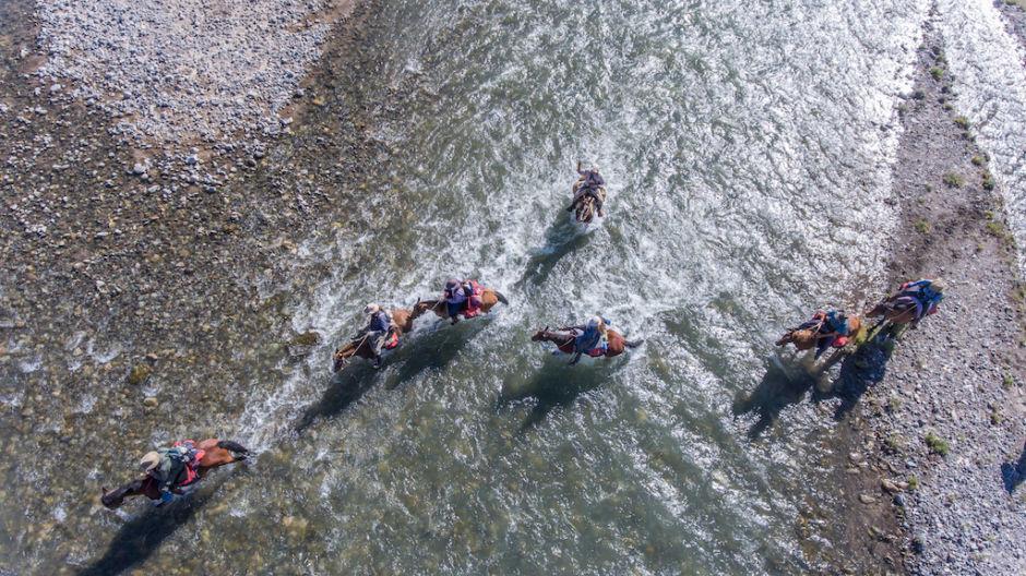 cruzar los Andes cruce de río
