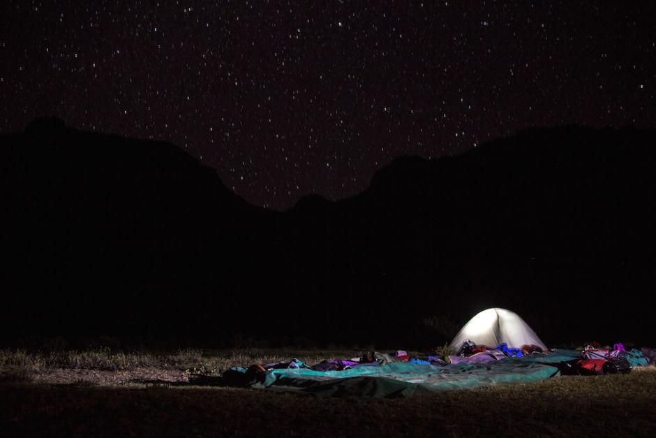 cruce de los Andes cielo nocturno
