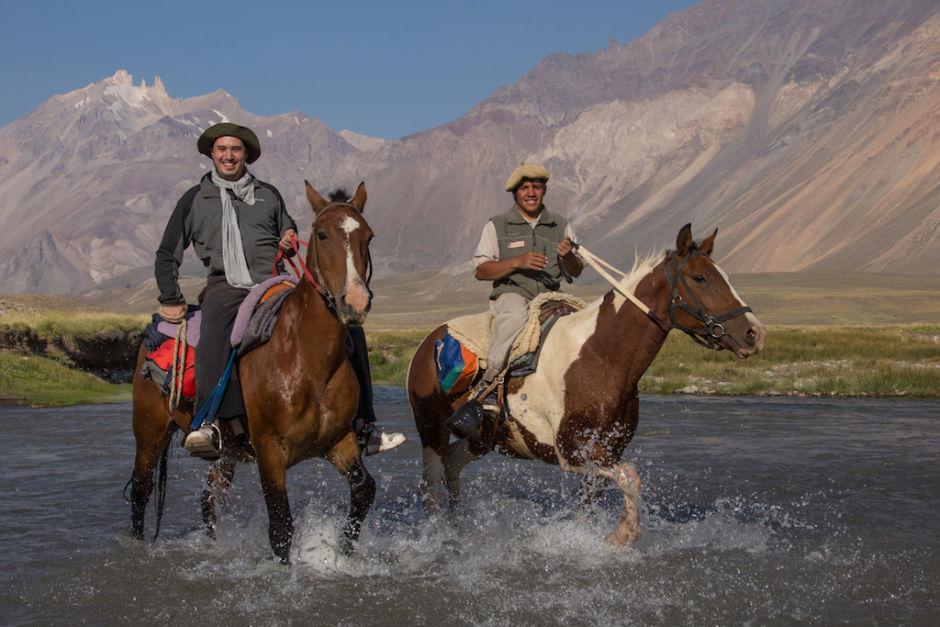 cruzar los Andes a caballo