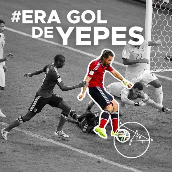 selección colombiana era gol de Yepes