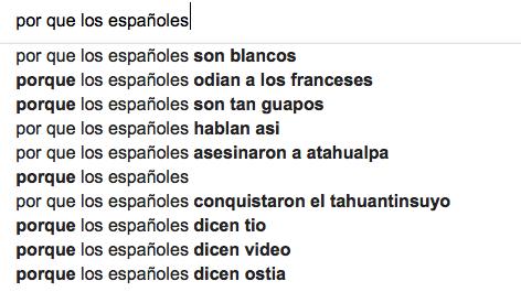 por que los españoles