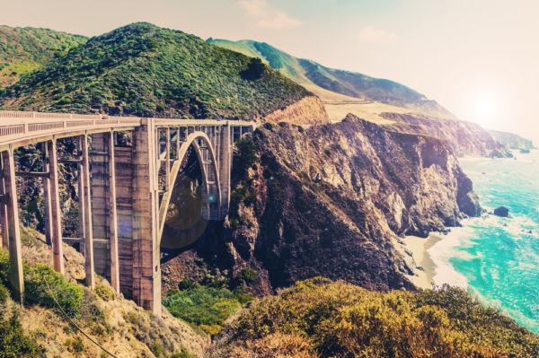 mejores carreteras de Estados Unidos Bixby Creek bridge