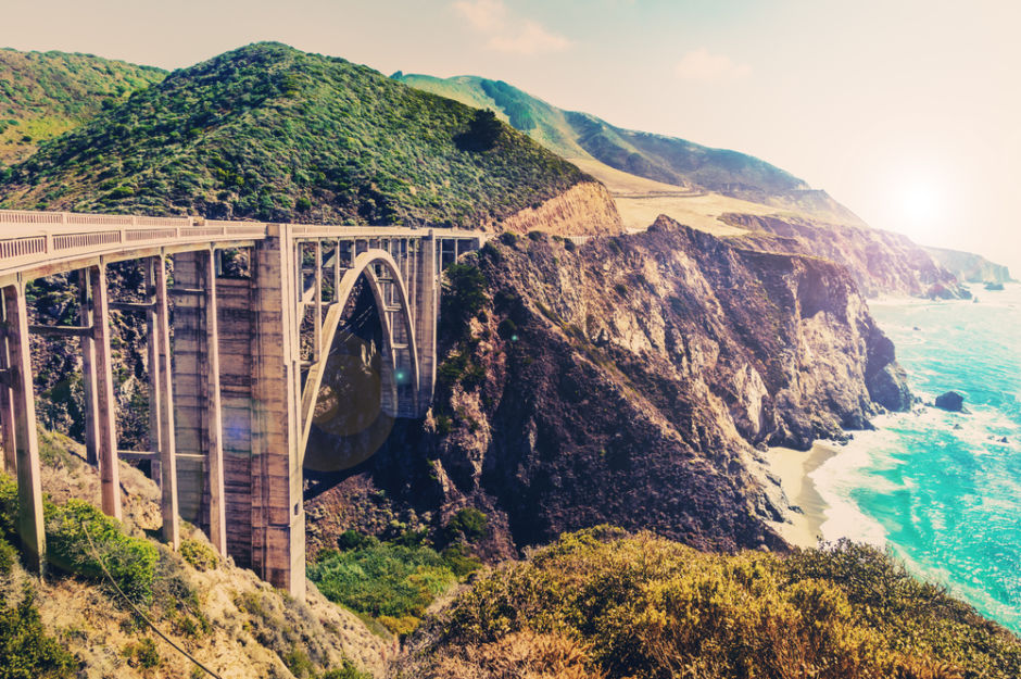 mejores carreteras de Estados Unidos Bixby Creek bridge