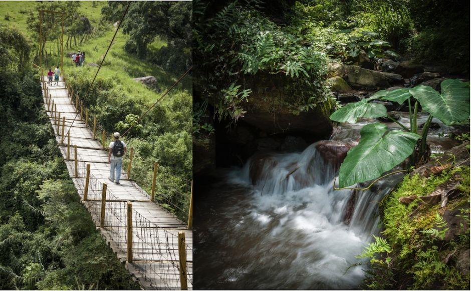 """San Pablito, Puebla: """"Puente colgante"""" y """"Poza del muerto"""""""
