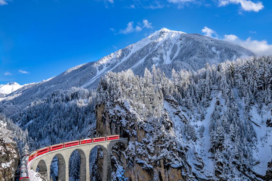 paisajes de Europa en tren