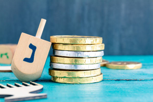 Hanukkah monedas