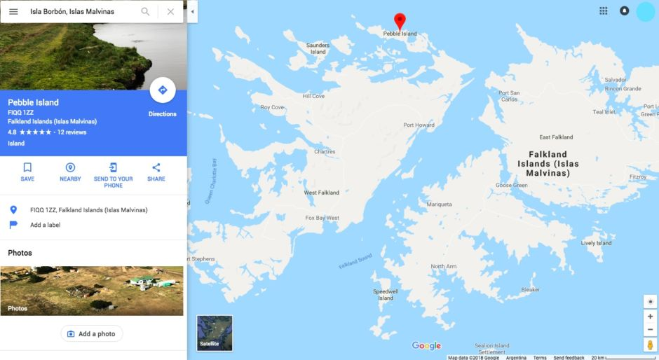 Isla Borbón Islas Malvinas
